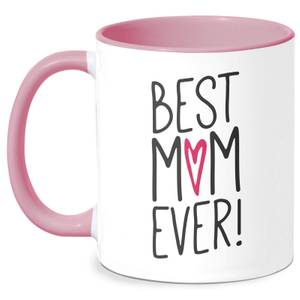 Best Mum Ever Mug - White/Pink