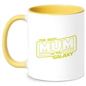 Best Mum In The Galaxy Mug - White/Yellow