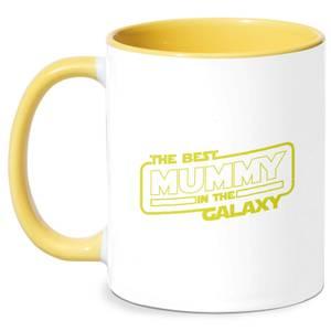 Best Mummy In The Galaxy Mug - White/Yellow