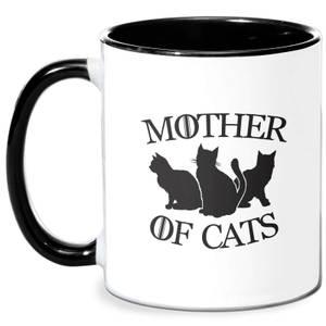 Mother Of Cats White Tee Mug - White/Black