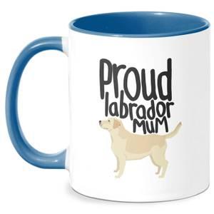 Proud Labrador Mum Mug - White/Blue