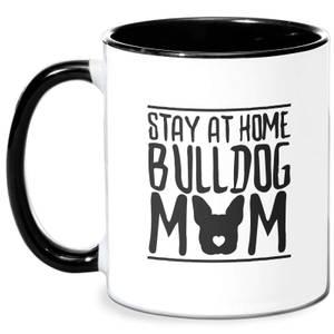 Stay At Home Bulldog Mom Mug - White/Black