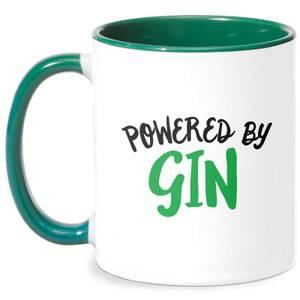 Powered By Gin Mug - White/Green