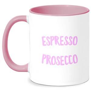 Espresso Then Prosecco Mug - White/Pink