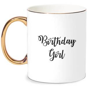 Birthday Girl Bone China Gold Handle Mug
