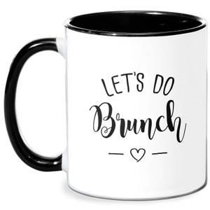 Lets Do Brunch Mug - White/Black