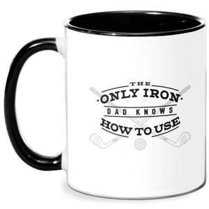 Dad's Only Iron Mug - White/Black