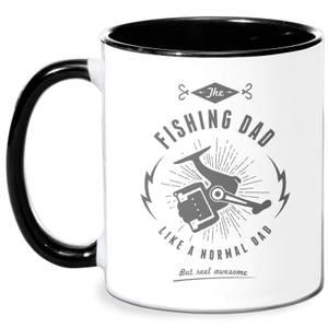 Fishing Dad Mug - White/Black