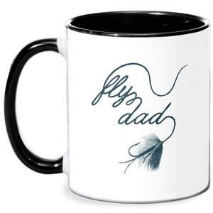 Fly Dad Mug - White/Black