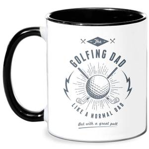 Golfing Dad Mug - White/Black