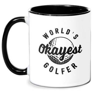 World's Okayest Golfer Mug - White/Black
