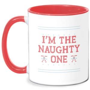 I'm The Naughty One Mug - White/Red