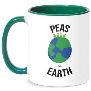 Peas On Earth Mug - White/Green
