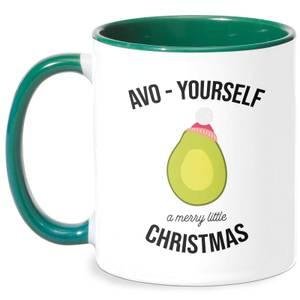 Avo-Yourself A Merry Little Christmas Mug - White/Green