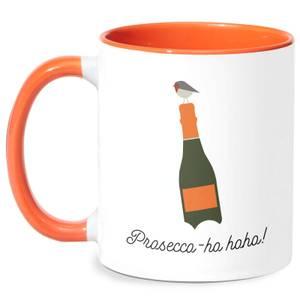 Prosecco-ho-ho Mug - White/Orange