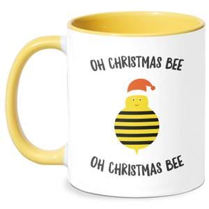 Oh Christmas Bee Oh Christmas Bee Mug - White/Yellow