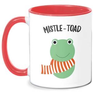 Mistle-Toad Mug - White/Red