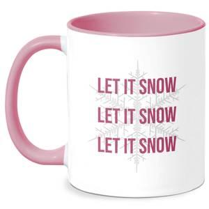 Let It Snow Mug - White/Pink