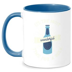 It's The Most Wonderful Time For A Beer Mug - White/Blue