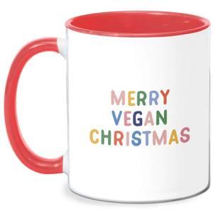 Merry Vegan Christmas Mug - White/Red