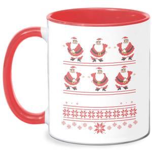 Flossing Through The Snow Mug - White/Red
