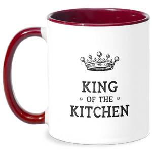 King Of The Kitchen Mug - White/Burgundy