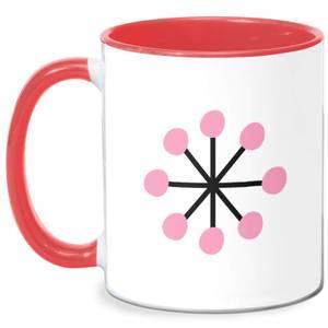 Pink Snowflake Mug - White/Red