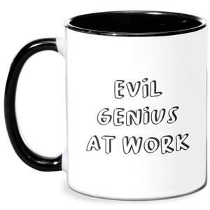 Evil Genius At Work Mug - White/Black