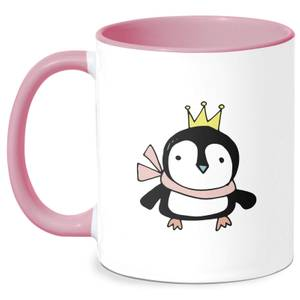 Christmas Penguin Mug - White/Pink