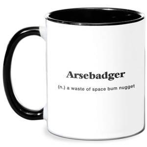 Arsebadger Mug - White/Black