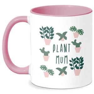 Plant Mum Mug - White/Pink