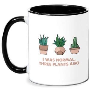 I Was Normal Three Plants Ago Illustration Mug - White/Black