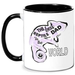 Reptile Dad Mug - White/Black