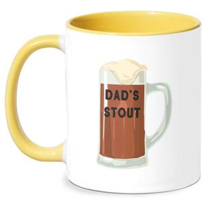 Dad's Stout Mug - White/Yellow