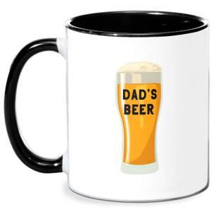Dad's Beer Mug - White/Black