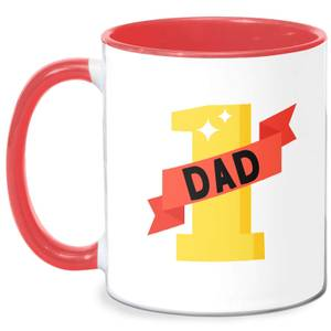 1 Dad Mug - White/Red