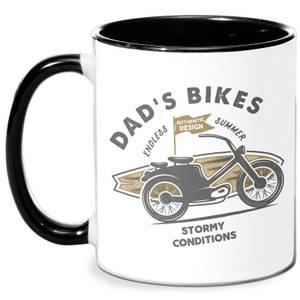 Dad's Bikes Mug - White/Black