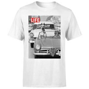 LIFE Magazine Dog In A Car Men's T-Shirt - White