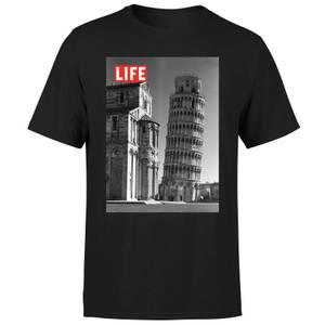 LIFE Magazine Tower Of Pisa Men's T-Shirt - Black