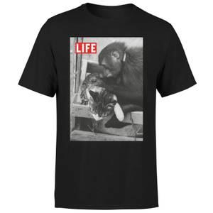 LIFE Magazine Monkey And Cat Men's T-Shirt - Black