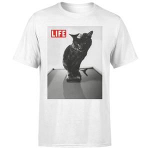 LIFE Magazine Black Cat Men's T-Shirt - White