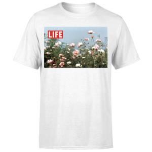 LIFE Magazine Flower Field Men's T-Shirt - White