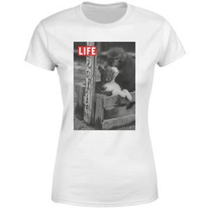 LIFE Magazine Monkey And Cat Women's T-Shirt - White