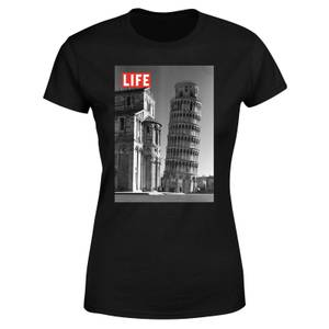 LIFE Magazine Tower Of Pisa Women's T-Shirt - Black