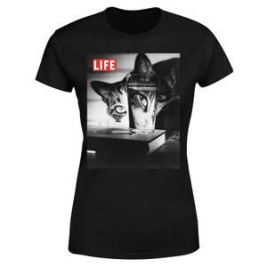 LIFE Magazine Cat Through The Glass Women's T-Shirt - Black