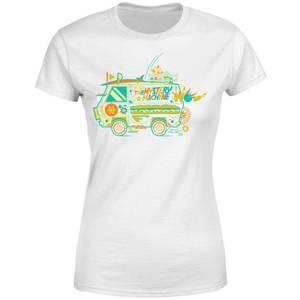T-shirt The Mystery Machine - Blanc - Femme
