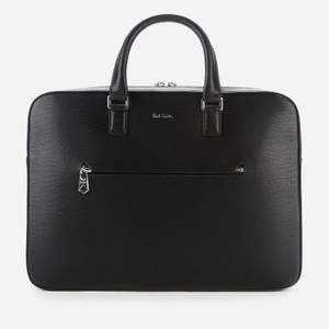 PS Paul Smith Men's Embossed Leather Slim Business Folio - Black