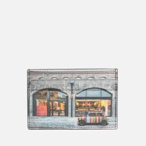 PS Paul Smith Men's Mini Printed Credit Card Holder - Black