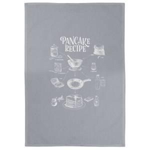 Pancake Recipe Cotton Grey Tea Towel