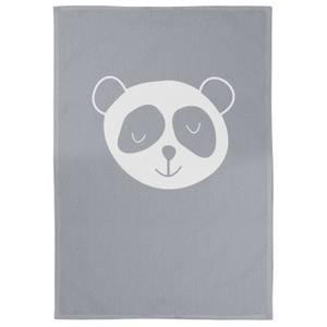 Panda Cotton Grey Tea Towel